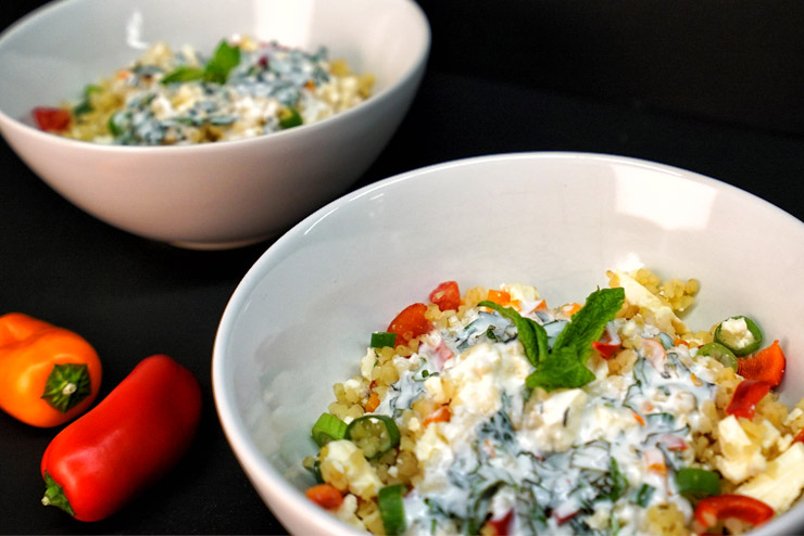 Kefir Bulgur Salad - Orient meets Kefir and Mint - A beauty rises