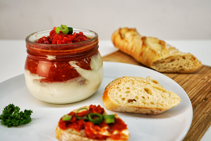 Kefir tomato spread - a homemade spread for bread