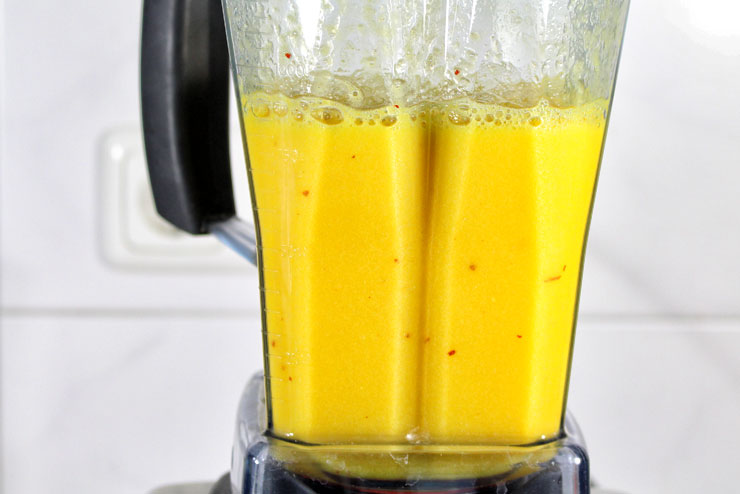 Hot Orange Kefir Drink with Chili and Oranges - a tasty and spicy recipe for hot food lovers - Mixer