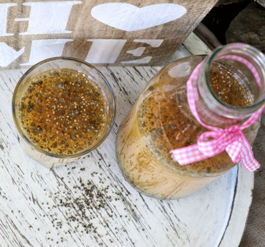 Orange chia water kefir drink – a fizzy and fresh summer lemonade - main picture