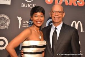 Laysha Ward and Dr. Lomax