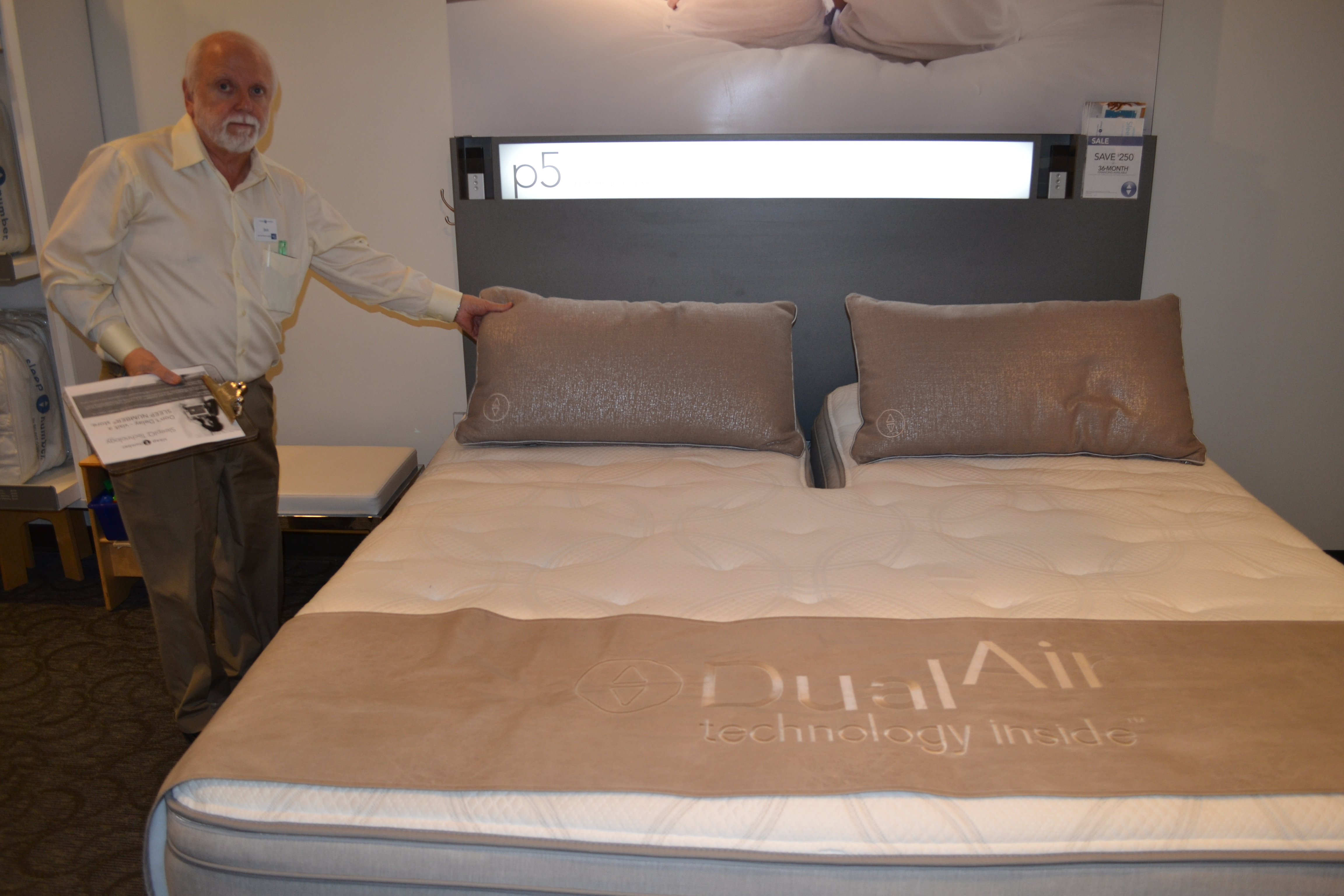 the third bed was the consumers choice personally i did not like the consumer choice bed although as i tried each bed on my sleep number the first one was