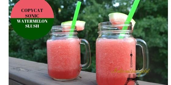 5 Ingredient Copycat Sonic Watermelon Slush W/ Fruit + Adult Version