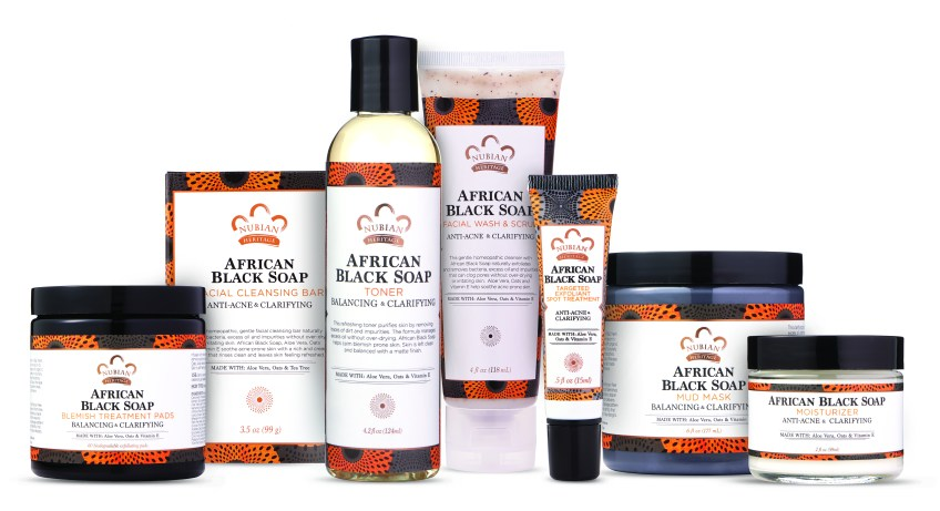 """Nubian Heritage"" ""Natural"" ""Beauty"" ""African Black Soap"""
