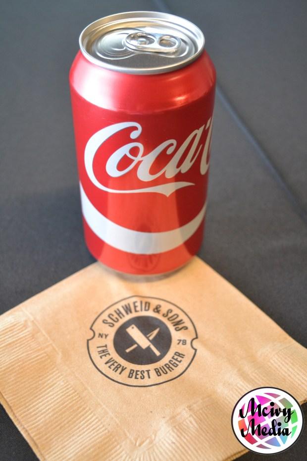 """Schweid & Sons"" ""The Very Best Burger"" ""Angus Beef"" ""USDA Prime"" ""Coca- Cola"""
