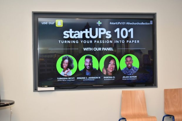 """Startups 101"" ""Passion"" ""Paper"" ""The Church Collection"" ""McIvy Media"" ""Entrepreneur"" ""Boss Chick"""