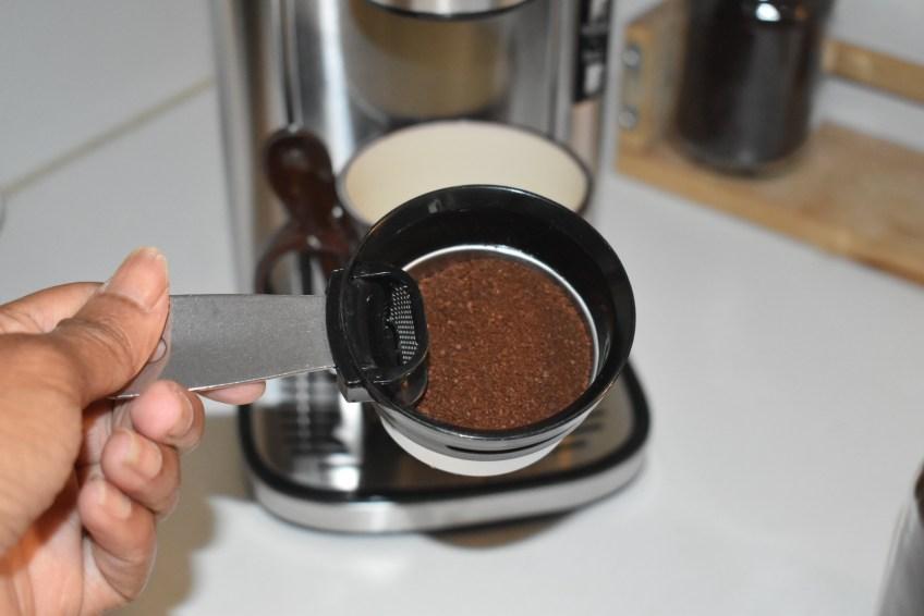 HAMILTON BEACH SCOOP SINGLE SERVE COFFEE MACHINE