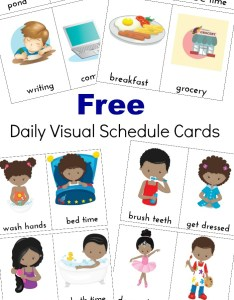 These daily visual schedule cards are exactly what everyone needs perfect for special also extra free printables natural beach living rh naturalbeachliving