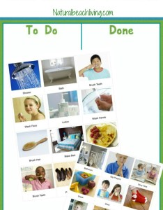 Visual schedule printables for morning routine and night autism perfect also the natural rh naturalbeachliving