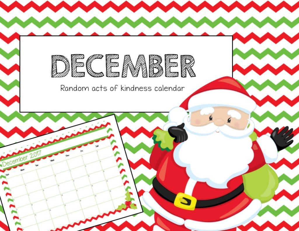 Free Christmas Calendar Amp Random Acts Of Kindness Ideas Printable Cards
