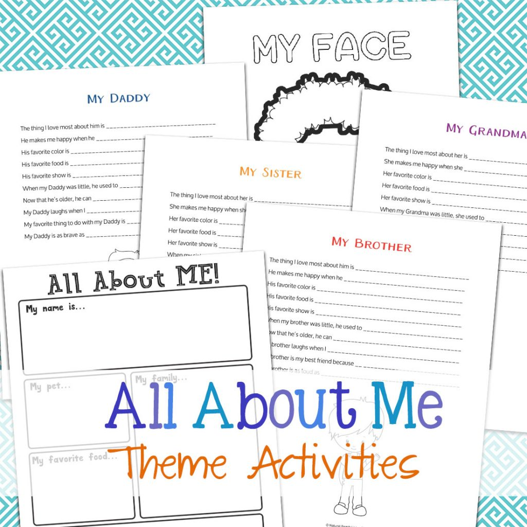 All About Me Activity Theme For Preschool Amp Kindergarten