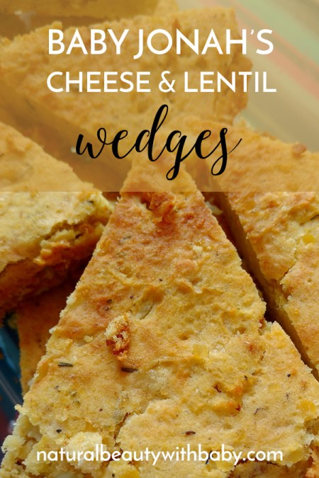 Our take on The Baby Led Weaning Cookbook's cheese and lentil wedges, perfect for little hands and melt in the mouth soft!