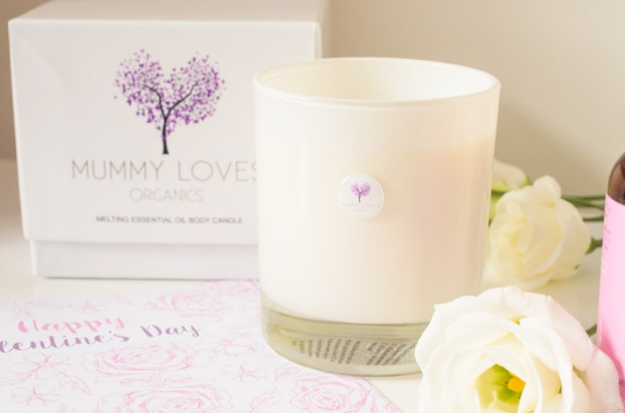 Melting Body Candle in Romance from Mummy Loves Organics