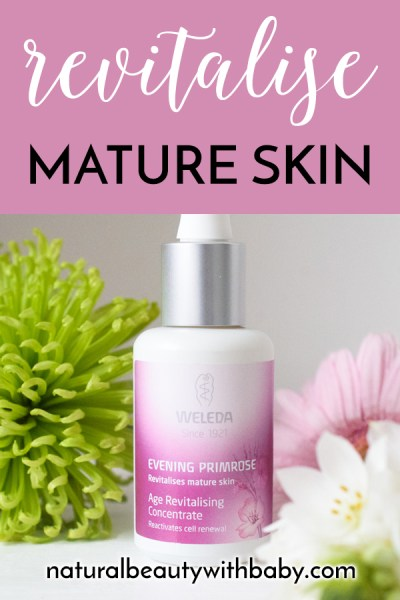 Weleda Evening Primrose Age Revitalising Concentrate is a perfect youth boosting serum for mature skin with anti-ageing evening primrose and sacha inchi.