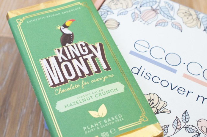 King Monty Hazelnut Crunch Vegan Chocolate Bar