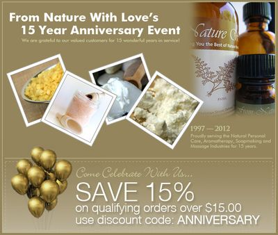 Happy Fifteenth Anniversary, From Nature With Love!