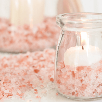 Aromatherapy Candle Diffusers with Himalayan Pink Salt