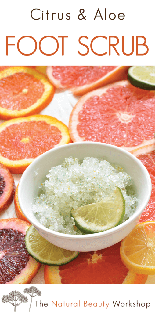 Citrus and Aloe Foot Scrub - Natural Handmade Recipe and Tutorial