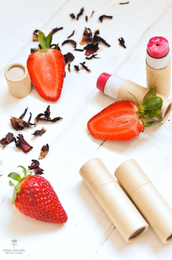 Handmade Strawberry Hibiscus Lip Balm Tutorial