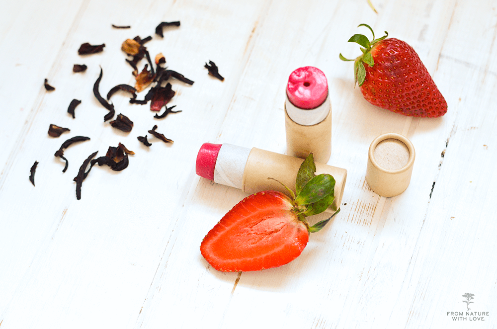 Handmade Strawberry Hibiscus Lip Balm Tutorial