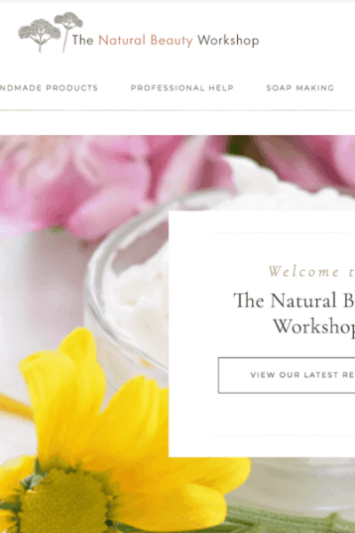 Bluehost is pleased to announce The Natural Beauty Workshop as the Grand Prize winner of the Bluehost Spotlight Awards.