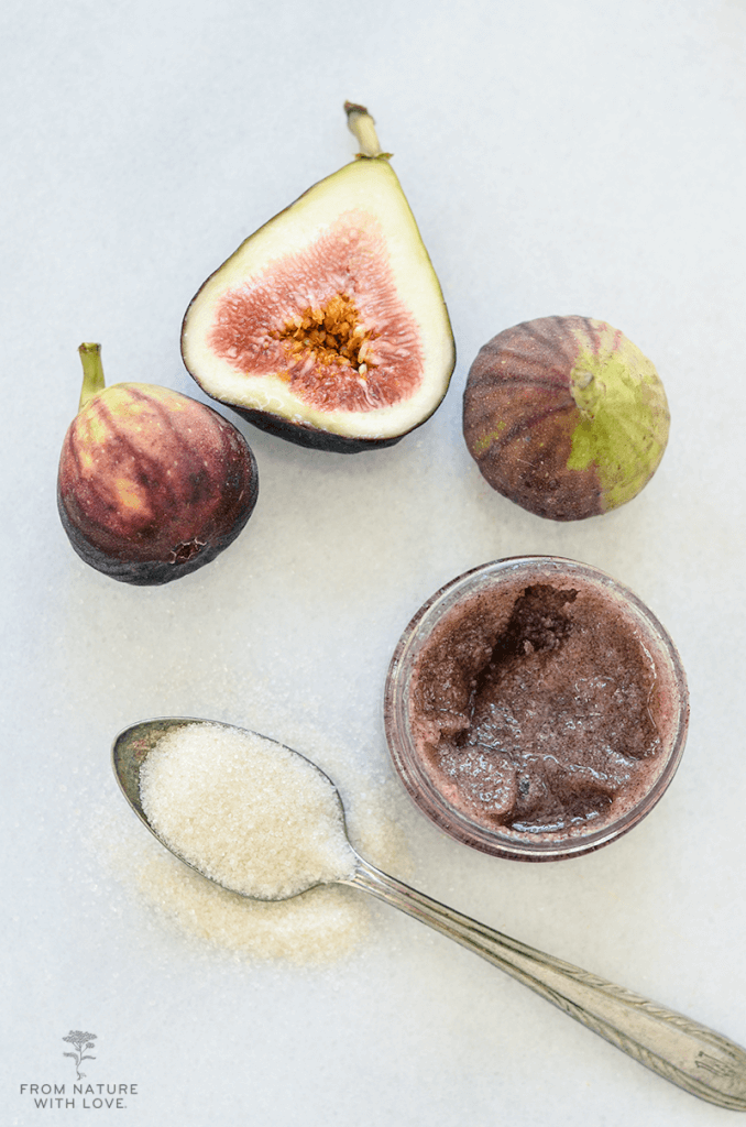 Dark Chocolate Fig Sugar Scrub - an exfoliating body polish using real cocoa and natural sugar