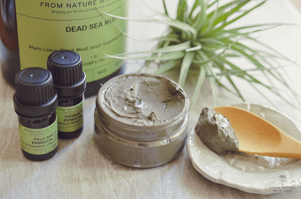 How to Make a Dead Sea Mud & Palo Santo Mask - a deep cleansing facial mask with soothing Palo Santo and Lavandula essential oils.