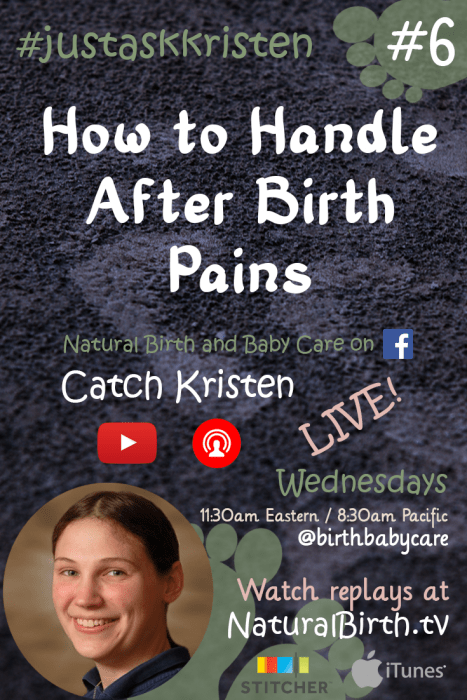 How to Handle Afterbirth Pains