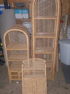 Wicker Basket Furniture and Shelving