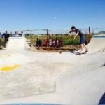Tyre built skate park Bloemfontein