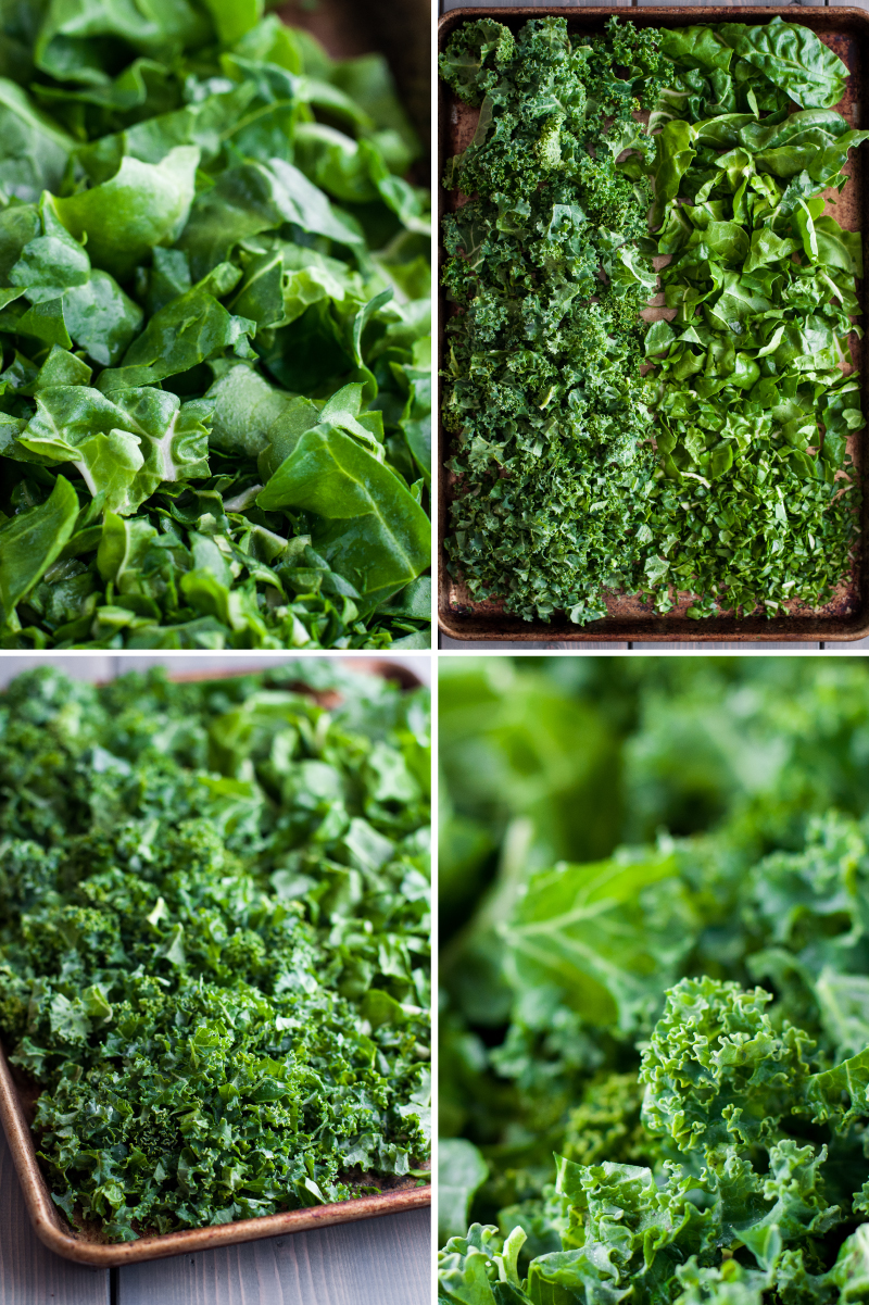Fresh leafy greens for baked parmesan kale puffs