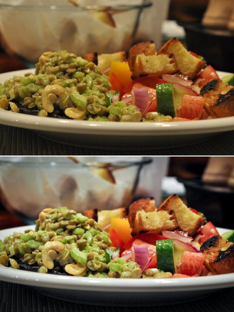 Curried lentil salad throwback