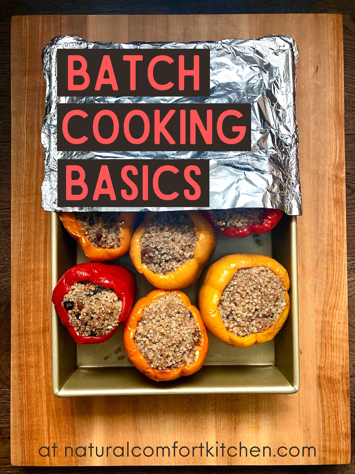 Get all the basics of (plant-based) batch cooking, plus a sample menu and weekly plan