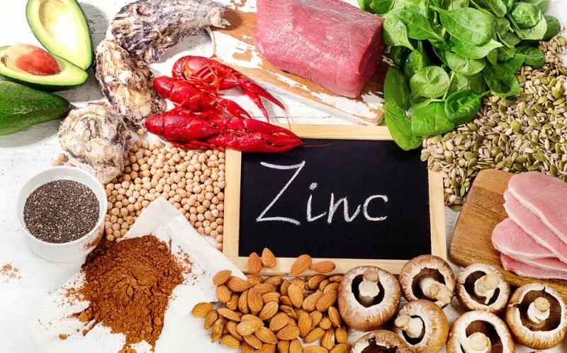 Foods Highest in Zinc. Healthy eating. Top view