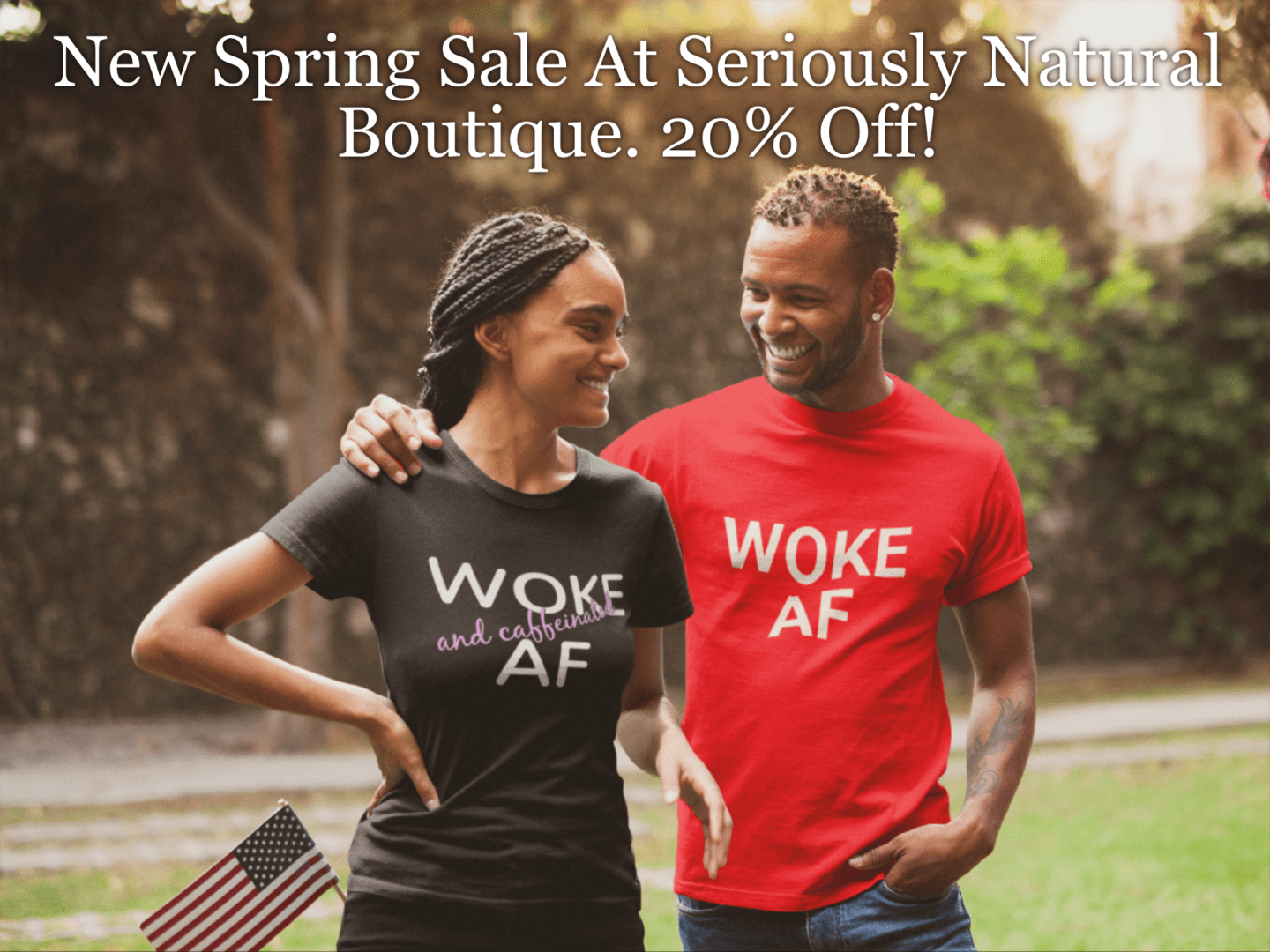 Time for the perfect spring sale! Get 20% off everything at Seriousy Natural Boutique. Check out the cutetest tees, totes and mugs that every natural needs!