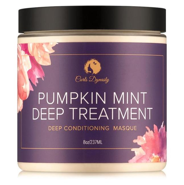 Click here to buy Curls Dynasty Pumpkin Mint Deep Treatment Deep Conditioning Masque