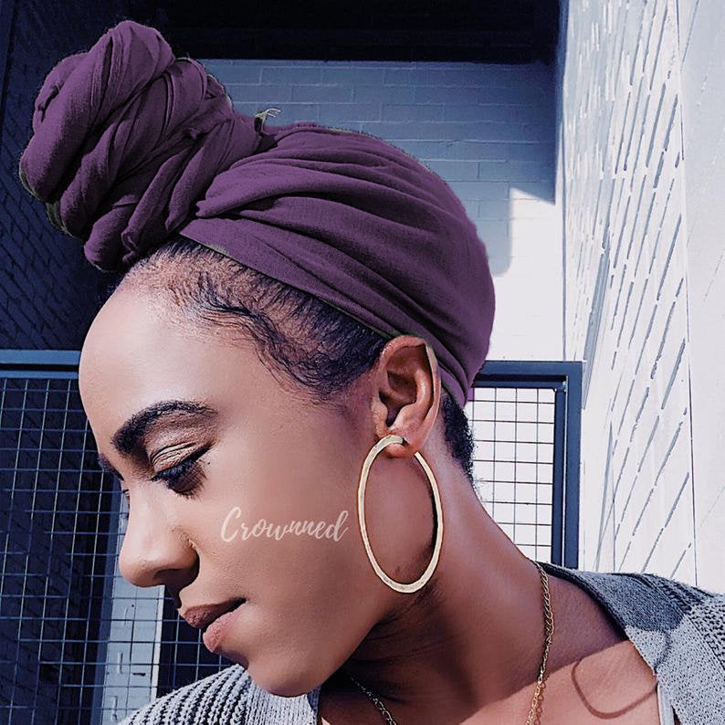 Click here to buy Plum headwarps from Crowned - Black Owned