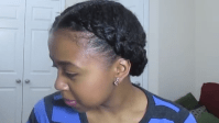 Create a French Braid and Tuck for Natural Hair