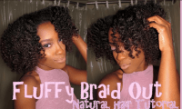 Fluffy Braid Out Tutorial