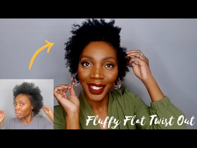 Fluffy Flat Twist Out On Stretched Hair Short Natural Hairstyle