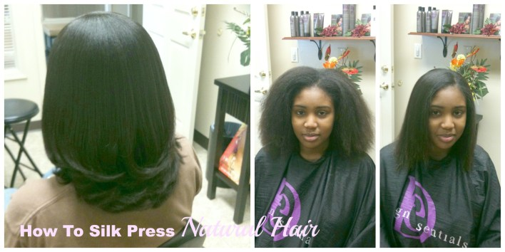 Silk Straightening Natural Hair