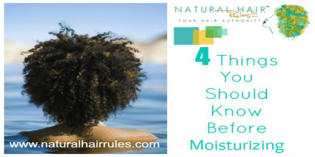 Before Moisturizing Natural Hair