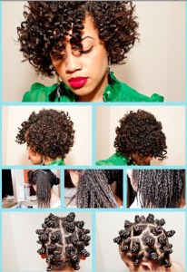 Bantu Knots Transitioning Hairstyle