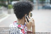 natural hairstyle tapered fro