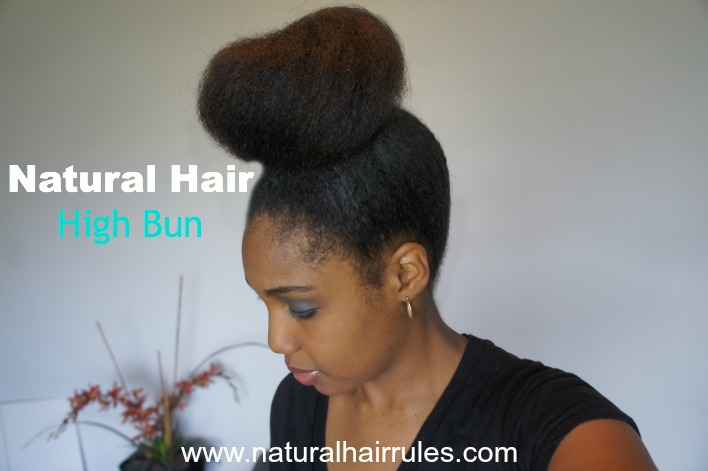 How to Do a Natural Hair High Bun Ninja Bun