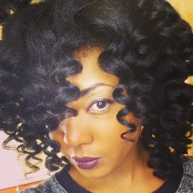 Curl Wand on Natural Hair