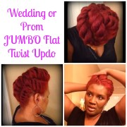 wedding prom jumbo flat twist updos