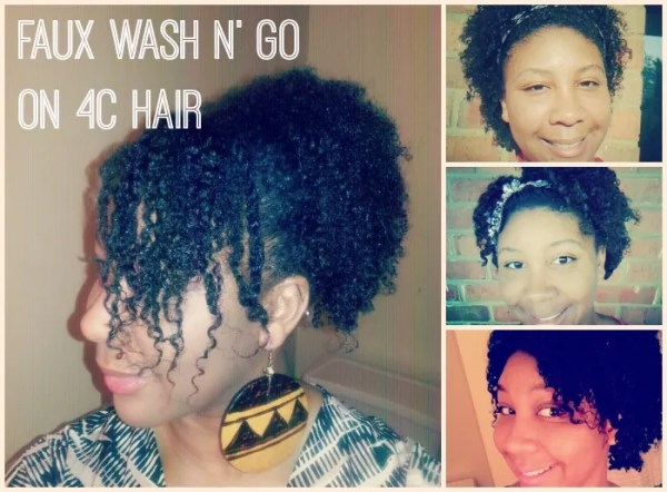 Faux-Wash-N-Go-4C-hair tutorial