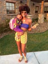 Kenya (K.D.) and daughter Khloa, 3