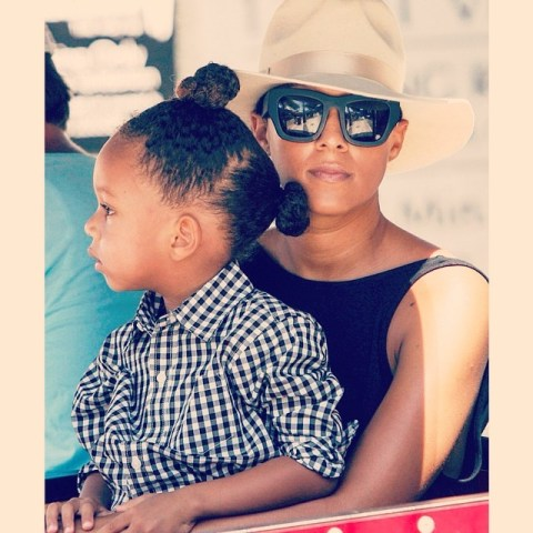Tia Mowry Son's Hair Critics: You Need To Cut His Hair